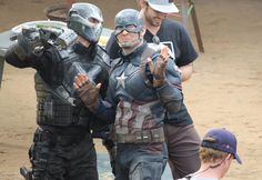 On the set of Captain America Civil War