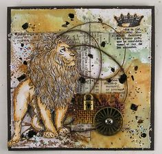 Suzz's Stamping Spot: In Like a Lion created by Suzz for the Simon Says Stamp Monday challenge (Lion's and Lamb's)