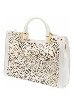 Laser cut bag  ~makes me want to destroy some leather....
