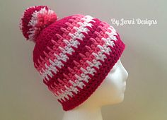 Rows of Spikes Hat pattern by Jenni Catavu