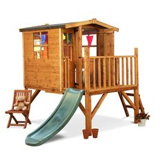 Wooden Garden Playhouse Children Wendy Outdoor House Play Slide Tree House Kids in Toys & Games, Outdoor Toys & Activities, Playhouses | eBay