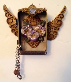 Altoid Tin Steampunk Shrine of Pansy by SweetbriarMercantile