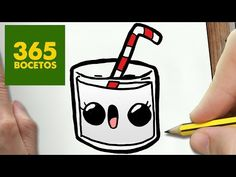 Como dibujar leche kawaii paso a paso - dibujos kawaii faciles - how to draw a milk Sweet Drawings, Cute Easy Drawings, Cute Kawaii Drawings, Beautiful Drawings, Easy Drawing Steps, Step By Step Drawing, Food Drawing, Drawing For Kids, 365 Kawaii