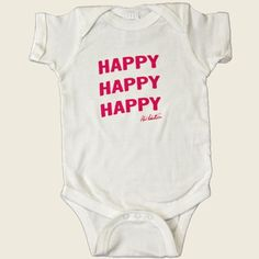 Duck Commander Happy Happy Happy Toddler Baby One Piece Bodysuit Red NWT
