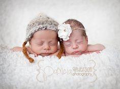 Newborn Boy Bonnet and Flower Halo Twin Set by PetuniaandIvy, $32.00