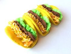 This felt taco is a great addition to your kids felt play food! ---Set includes--- 1 yellow corn tortilla 1 taco meat 1 cheese 2 pieces of lettuce ---Current production time for this item--- MADE TO ORDER *3 to 5 days* ---Materials--- Eco fi felt (which is made from 100% recycled