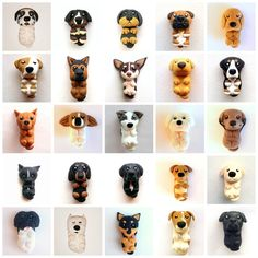 10 Dog-Inspired Gifts For The 10 Different Types Of Pup Parents <br> Which pup parent wouldn't want these pawesome items? Polymer Clay Kunst, Cute Polymer Clay, Polymer Clay Animals, Cute Clay, Polymer Clay Miniatures, Fimo Clay, Polymer Clay Charms, Polymer Clay Projects, Polymer Clay Creations