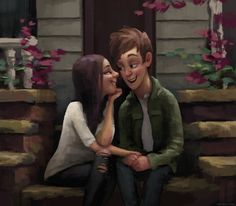 Romantic Illustrations by Zac Retz Couple Drawings, Love Drawings, Beautiful Drawings, Couple Illustration, Illustration Art, Romance, Art Manga, Cute Couple Art, Couple Cartoon