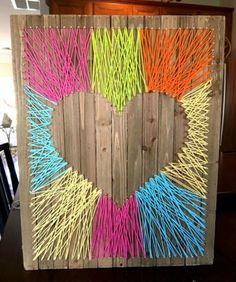How to Make Fun and Easy Heart String Art Craft   The Art 123