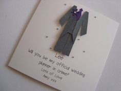Personalised Will You Be My Usher/Best Man/Page by ohsopurrfect