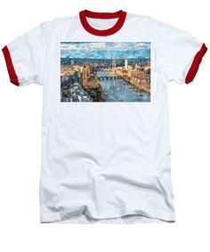 Baseball T-Shirt - River Thames In London, England