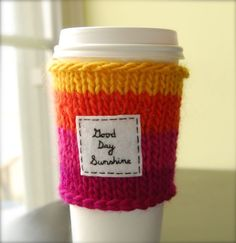 VERY fun way to keep your fingers from burning, keep your drink warm, and jump on the reusable treasures band wagon!
