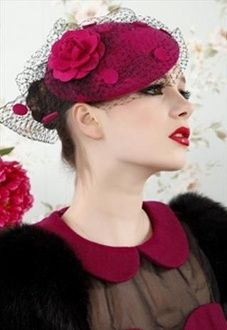 red rose ladies hat