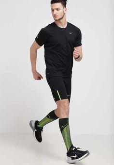 Nike Performance ELITE RUN - Sportsocken - black/volt - Zalando.de