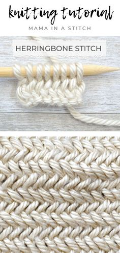 knitting inspiration Hi friends! I've knit a beautiful herringbone stitch in the past, but was excited to find a simpler method! You can also find an easy bag pattern (here) on th Knitting Designs, Knitting Patterns Free, Free Knitting, Knitting Ideas, Designer Knitting Patterns, Knitting Tutorials, Crochet Pattern Free, Crochet Patterns, Embroidery Patterns