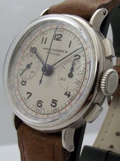 Vintage Abercrombie Fitch Co Chronograph Manual Wind 1950´S Landeron