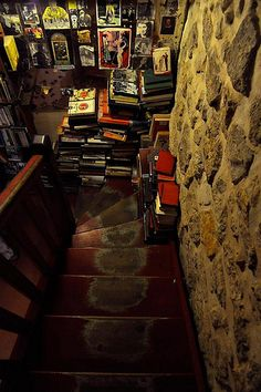 Shakespeare and Co.. I need to go here one day. steps worn down by hemingway and f. scott fitzgerald among many...:)