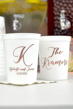 See your vision come to life instantly! Personalize your cups with a design and up to three additional lines of custom printing, and view your proof immediately.