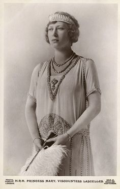 H. R. H. Princess Mary (1897-1965), Viscountess Lascelles, shortly after her wedding. Photo by Vandyk, Ltd. Published byJ. Beagles & Co., circa 1923.