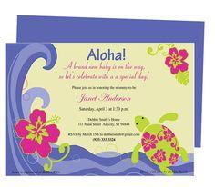 Baby Shower Invitations : Aloha Baby Shower Invitation Template