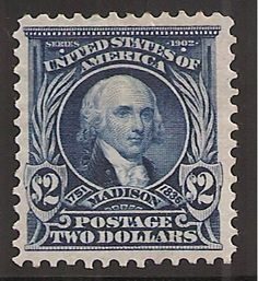 US Stamp - James Madison 4th US President 1809-1817