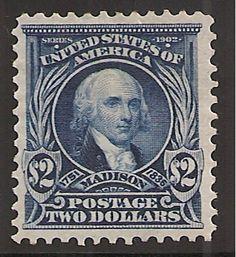 US Stamp - James Madison 4th US President 1809-1817