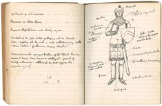 Arthur Conan Doyle's notebook for The White Company