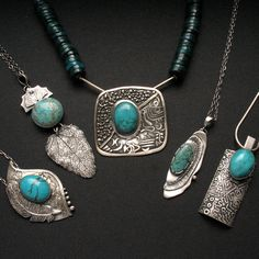 Silver jewelry with turquoise -by Fiann Anna Fidecka  #turquoise #jewelry #silver #handmade #ooak #biżuteria #wisior #naszyjnik #unique #moda