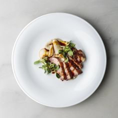 Roasted Long Island Duck breast glazed with luscious, ripe Maille Fig Vinegar—a Brooklyn-influenced creation by Ian Alvarez  of Bara Restaurant.
