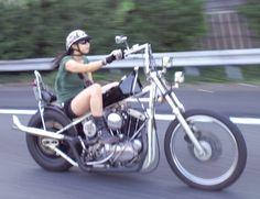 Fuck the Nash hell ride 2016 by dynamitejoe. Lady Biker, Biker Girl, Female Motorcycle Riders, Motorcycle Girls, Sportster Cafe Racer, Sportster Chopper, Chicks On Bikes, Old School Chopper, Custom Bobber