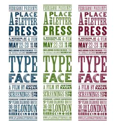 Here is a really nice letterpress poster designed for the UK screening, designed by art student Alex Fowkes aka Pone.