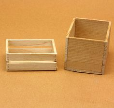 Make a Variety of Simple Crates for Scale Displays or Storage