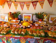 Kirsty W's Birthday / Lion Guard - Constance's Lion King Birthday Party at Catch My Party Lion King Birthday, Jungle Theme Birthday, 1st Birthday Parties, 2nd Birthday, Birthday Ideas, Jungle Party, Tea Parties, Kiara Lion King, Lion King 1