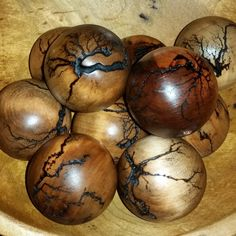 Touched by Lightning 1 Sphere Fractal Wood Burning with Electricity Lichtenberg Figures by LSPGiftsandMore on Etsy