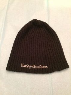 d26eca62ac0 Harley Davidson Women s One-Size Black Beanie Hat  fashion  clothing  shoes