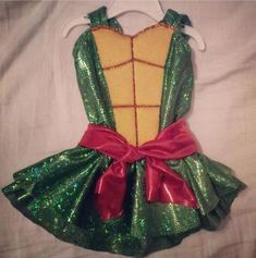 Sparkly Toddler Mutant Ninja Turtle Costume | 15 DIY Ninja Turtle Costume Ideas: Cowabunga!