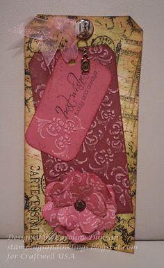 big #10 tag designed by Caroline Duncan ~ stampingsandinklings.blogspot.com Craftwell eBosser