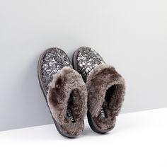 Zapatillas de Casa lentejuelas color metalizado
