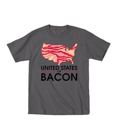Loving this Charcoal 'United States of Bacon' Tee - Men on #zulily! #zulilyfinds