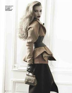 (my) new look: Lyoka Tyagnereva by Alan Gelati for Marie Claire Russia September 2012  Stylist: Alyona Isaeva  Hair: Enrico Mariotti  Make-up: Akiko Sakamoto