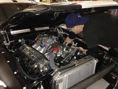 Me working a 427 in a '67 Shelby