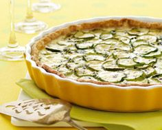 Zucchini Tart with Feta and Mint -the mint and feta make this a light brunch dish