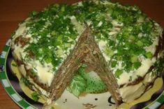 Печеночный торт. Самый вкусный вариант приготовления! Sandwich Cake, Sandwiches, Cooking Recipes, Healthy Recipes, Antipasto, Saveur, Desert Recipes, Avocado Toast, Nutella