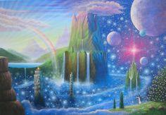 Gallery Visionary – Benny H. Kunst Inspo, Art Inspo, Fantasy Landscape, Landscape Art, Fantasy Kunst, Fantasy Art, Hippie Art, Visionary Art, Retro Futurism