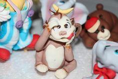 Monkey cake topper Sugar paste figurine