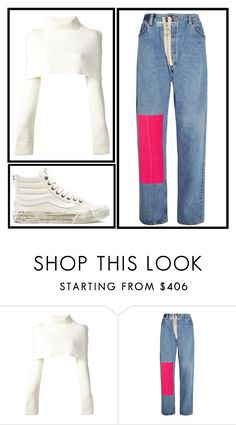"""""""Shake"""" by shes-a-rainbow ❤ liked on Polyvore featuring Maison Margiela, Off-White and Vans"""