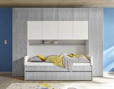 Pont pour lit gris et blanc design NATHEO 4 Ikea, Decoration, Bunk Beds, Armoire, Interior Design, Interior Ideas, Bedroom, Furniture, Designers