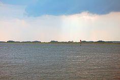 Rainstorm on the ferry from Daufuskie Island, South Carolina to Hilton Head Island, SC