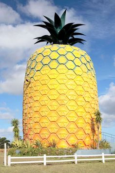 Monster pineapple building - South Africa: A neighborhood point of interest, the four-story monster pineapple is situated on Summerhill Farm, Bathurst, Eastern Cape Province. This fascination was made by individuals from the rural group in Bathurst. Prada Marfa, Hakone, Stonehenge, Bangkok, South African Holidays, Places Around The World, Around The Worlds, Green Tea Bath, Places