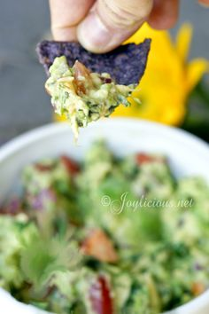 3 ripe avocados, pitted and skin removed 2 ripe roma tomatoes, small diced a handful of cilantro, cleaned and finely chopped (omit if you do not like cilantro) 1/2 medium purple onion, peeled and finely chopped 1/2 lime, juice only  1 tsp salt